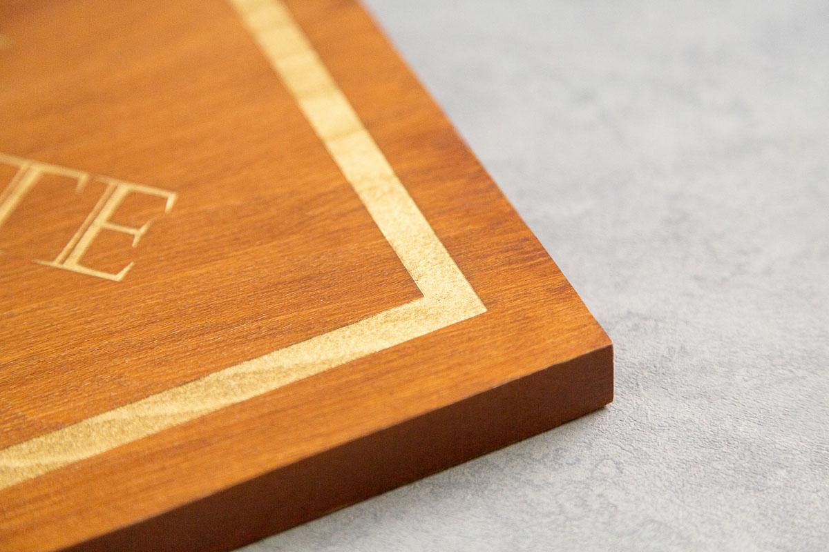 logo enseigne gravee signaletique bois magasin bureau 3