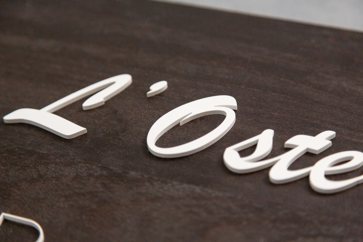 logo signaletique enseigne bois 3d magasin bureau restaurant 12