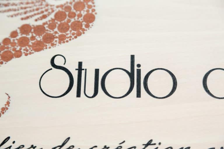 logo signaletique enseigne bois 3d magasin bureau restaurant 17