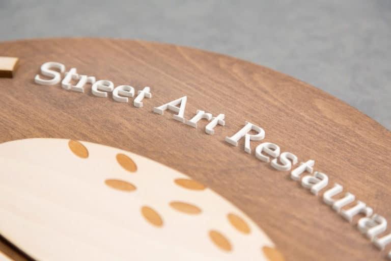 logo signaletique enseigne bois 3d magasin bureau restaurant 2