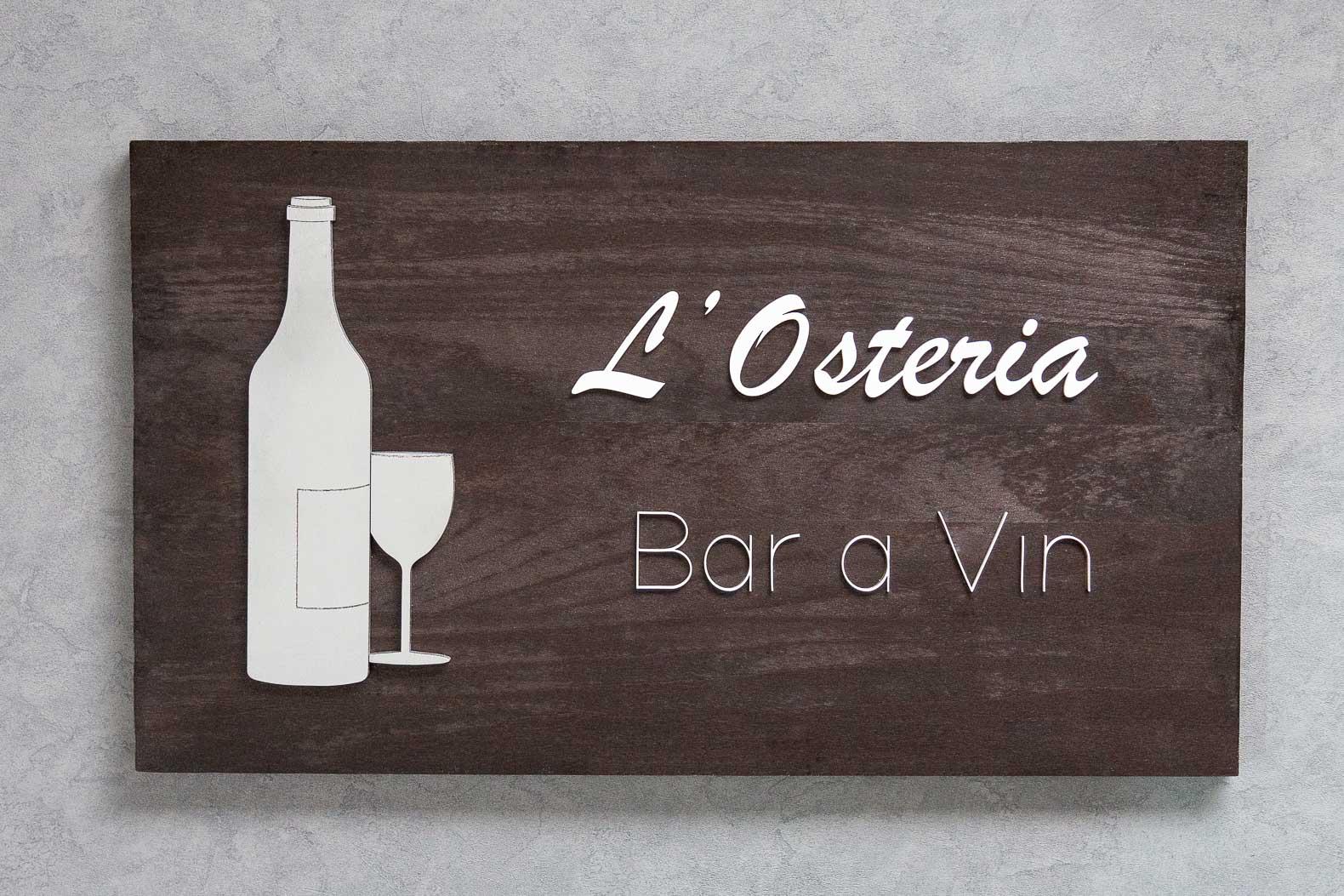 logo signaletique enseigne bois d magasin bureau restaurant