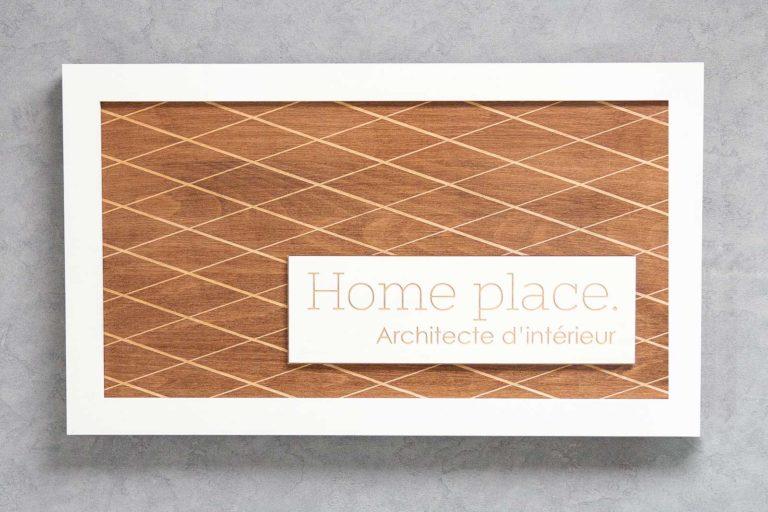 logo signaletique enseigne bois 3d magasin bureau restaurant architecte